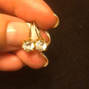 Gold diamonds earrings🌺🌺🌺